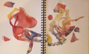 Encaustic Monotype Collage Sketchbook