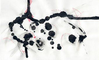 bulletism Ink blots and pencil crayon