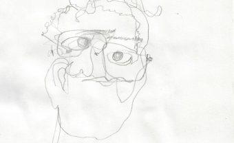 self portrait blind continuous line