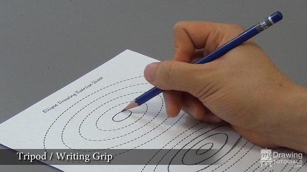 Tripod writing pencil grip