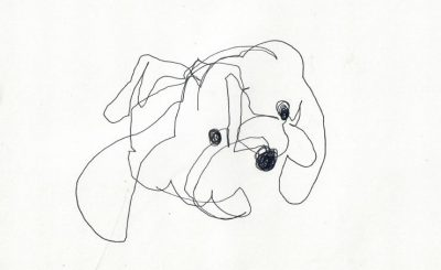 stuffed animal blind contour drawing